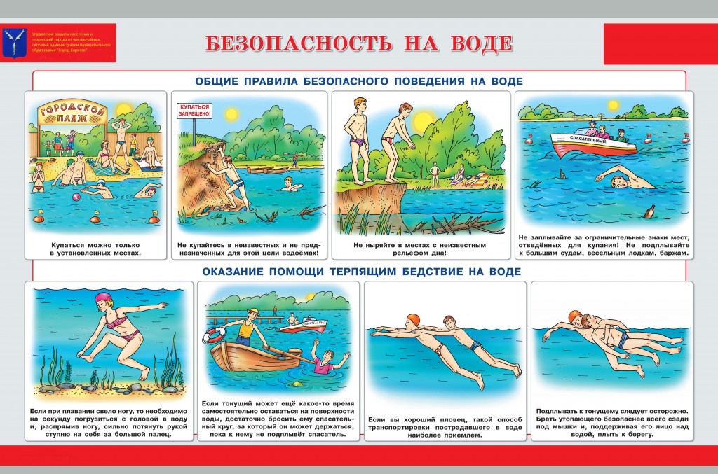 общие правила поведения на воде